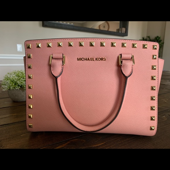 Michael Kors Handbags - Michael Kors Selma Stud Satchel